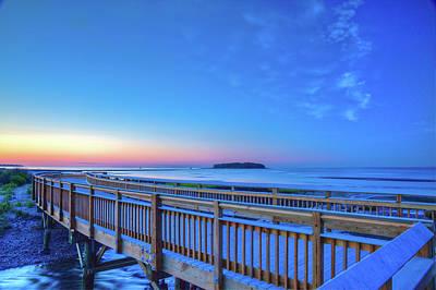 Early Morning Beach Walkway Poster by John Supan
