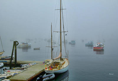 Early Morning Harbor Fog Poster by Garland Johnson