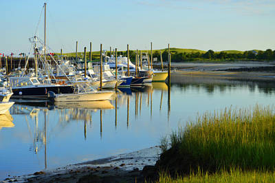 Early Morning Harbor Side Poster by Dianne Cowen