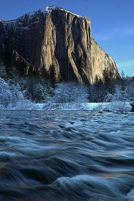 Poster featuring the photograph Early Morning Light On El Capitan During Winter At Yosemite National Park by Jetson Nguyen