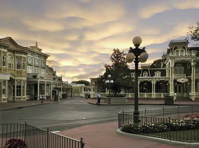Early Morning Magic Kingdom Walt Disney World Poster