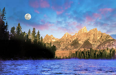 Early Morning On Snake River Poster