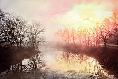 Poster featuring the photograph Early Morning On The River by Debra and Dave Vanderlaan