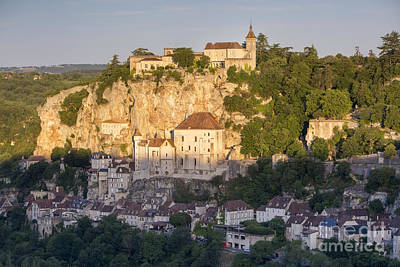 Early Morning Over Rocamadour Poster by Brian Jannsen