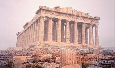 Poster featuring the photograph Early Morning Parthenon by Nigel Fletcher-Jones