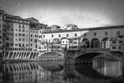 Poster featuring the photograph Early Morning Ponte Vecchio Florence Italy by Joan Carroll