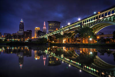 Early Morning Riverside In Cleveland Poster by At Lands End Photography