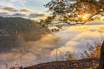Early Morning Sunrise At Letchworth State Par Poster