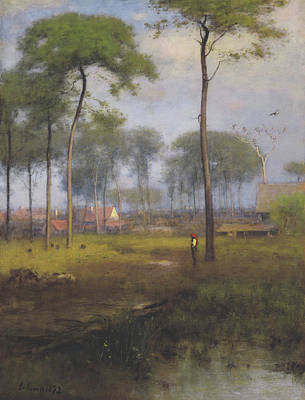 Early Morning, Tarpon Springs Poster by George Inness