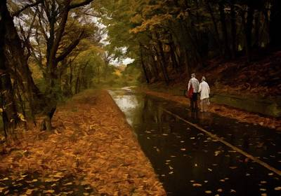 Poster featuring the photograph Early Morning Walk by David Dehner