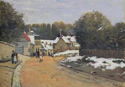 Early Snow At Louveciennes Poster by Alfred Sisley