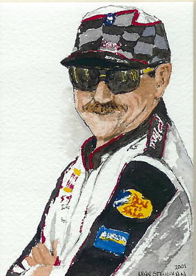 Poster featuring the painting Earnhardt Attitude by Lynn Babineau