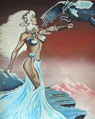Poster featuring the painting Earth Angel by Dianna Lewis