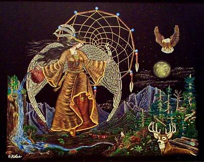 Earth Angel Moon Rise Poster by Emily Kolar