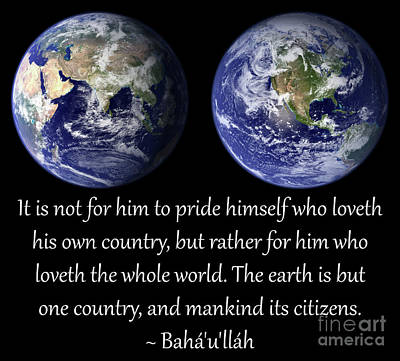 Earth Is But One Country Poster