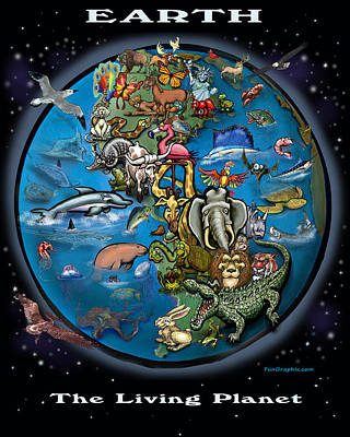 Poster featuring the painting Earth by Kevin Middleton