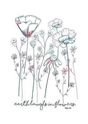 Poster featuring the digital art Earth Laughs In Flowers by Heather Applegate