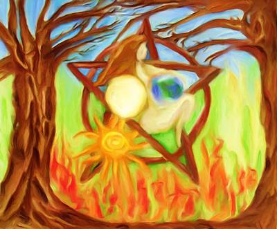 Poster featuring the painting Earth Mother Goddess by Shelley Bain