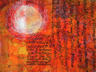 Poster featuring the mixed media Earth Music by Nancy Merkle