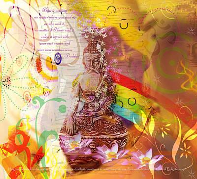 Earth Touching Buddha Poster