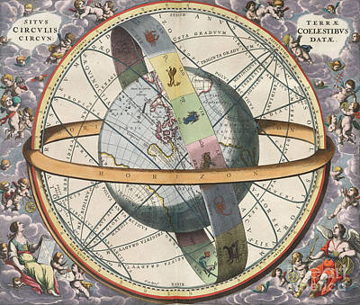 Earth With Celestial Circles Harmonia Poster