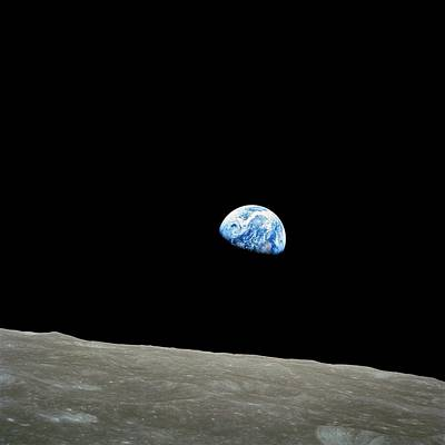 Earthrise - The Original Apollo 8 Color Photograph Poster by Nasa