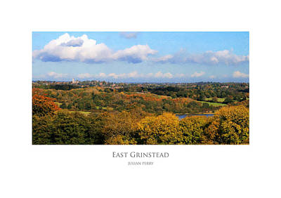 Poster featuring the digital art East Grinstead by Julian Perry