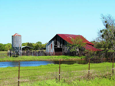 East Texas Barn Poster