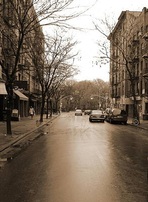 East Village In Winter Poster by Utopia Concepts