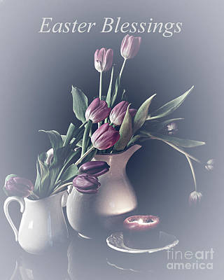 Easter Blessings No. 3 Poster by Sherry Hallemeier