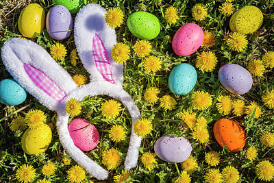 Poster featuring the photograph Easter Bunny Ears by Teri Virbickis