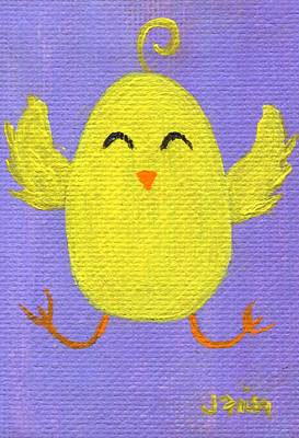 Poster featuring the painting Easter Chicky by Jamie Frier
