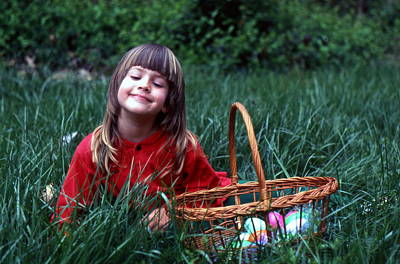 Poster featuring the photograph Easter Egg Hunt by Lori Miller
