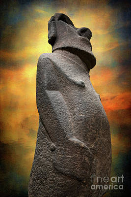 Easter Island Moai Poster by Adrian Evans