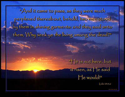 Easter Sunrise - He Is Risen Poster
