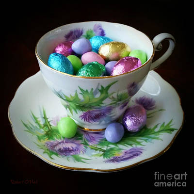 Easter Teacup Poster by Robert ONeil