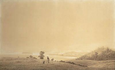 Eastern Coast Of Rugen Island With Shepherd Poster