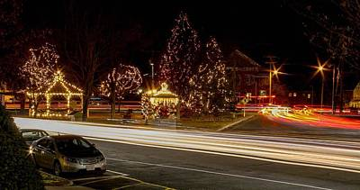Easthampton Light Trails Poster