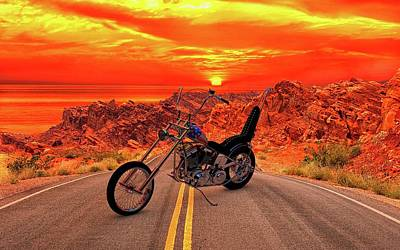 Poster featuring the photograph Easy Rider Chopper by Louis Ferreira