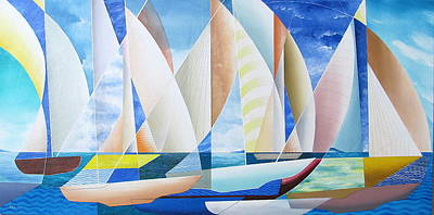 Poster featuring the painting Easy Sailing by Douglas Pike