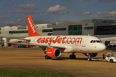 Poster featuring the photograph Easyjet Airbus A319-111  by Tim Beach