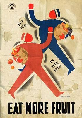 Eat More Fruit - Vintage Poster Folded Poster