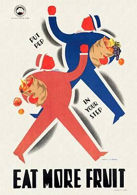 Eat More Fruit - Vintage Poster Restored Poster