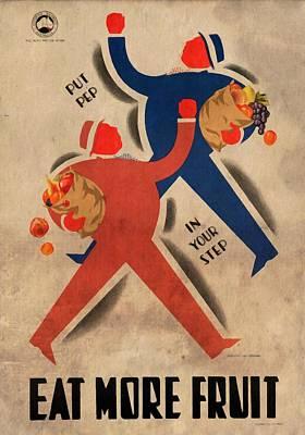 Eat More Fruit - Vintage Poster Vintagelized Poster