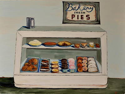 Poster featuring the painting Eat More Pie by Lindsay Frost