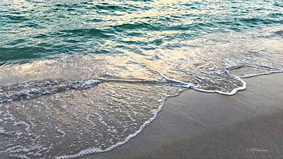 Ebb Tide Sunset Poster by Barbara Chichester