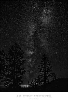 Ebbetts Pass Night In Black And White Poster