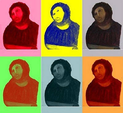 Ecce Homo - Warhol Style Poster by S Martin