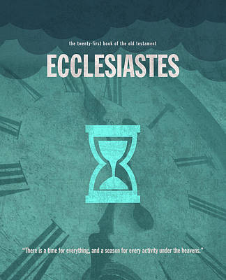 Ecclesiastes Books Of The Bible Series Old Testament Minimal Poster Art Number 21 Poster