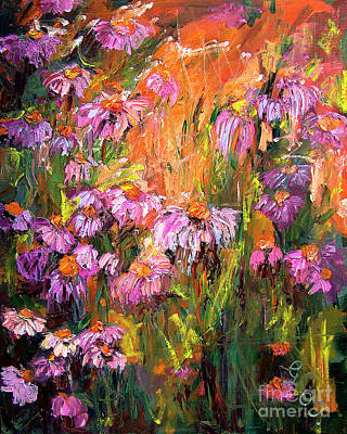Echinecea Purple Coneflower By Ginette Poster